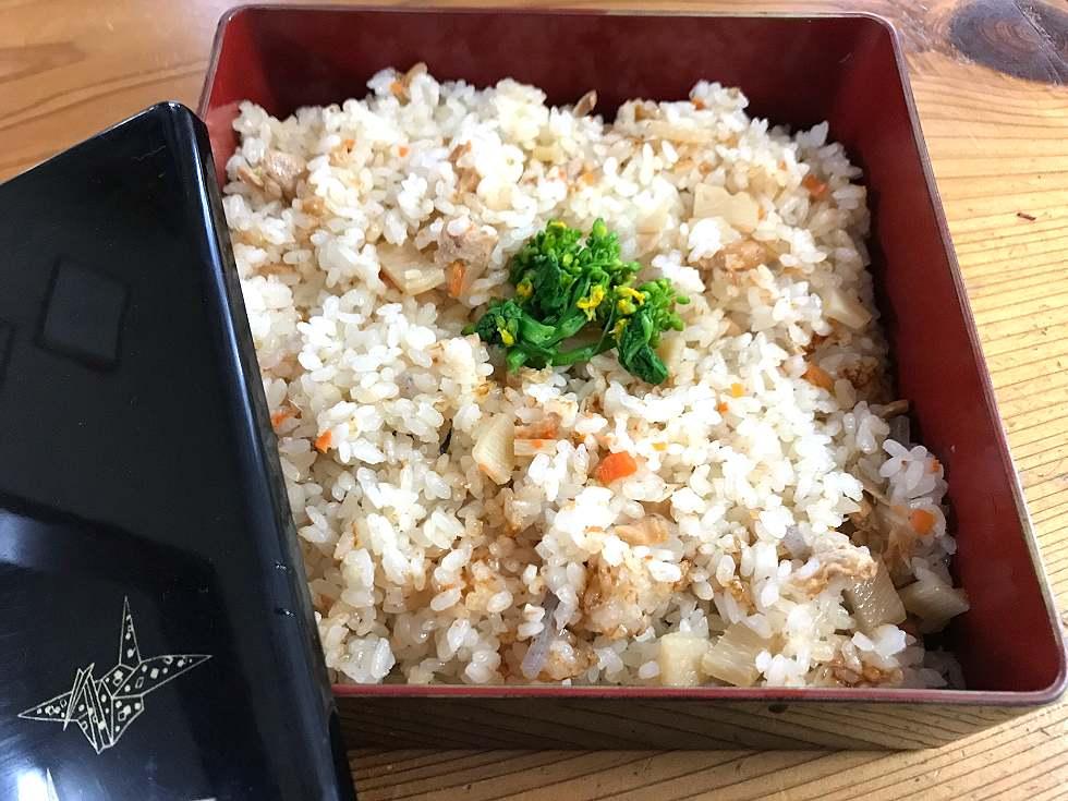 2合のお米にのどぐろご飯の素