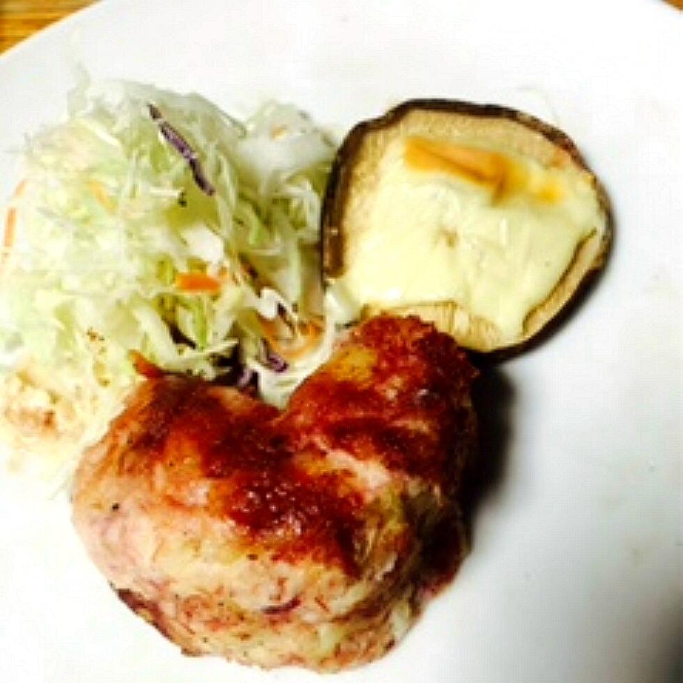 米沢牛のコーンビーフでハンバーグ
