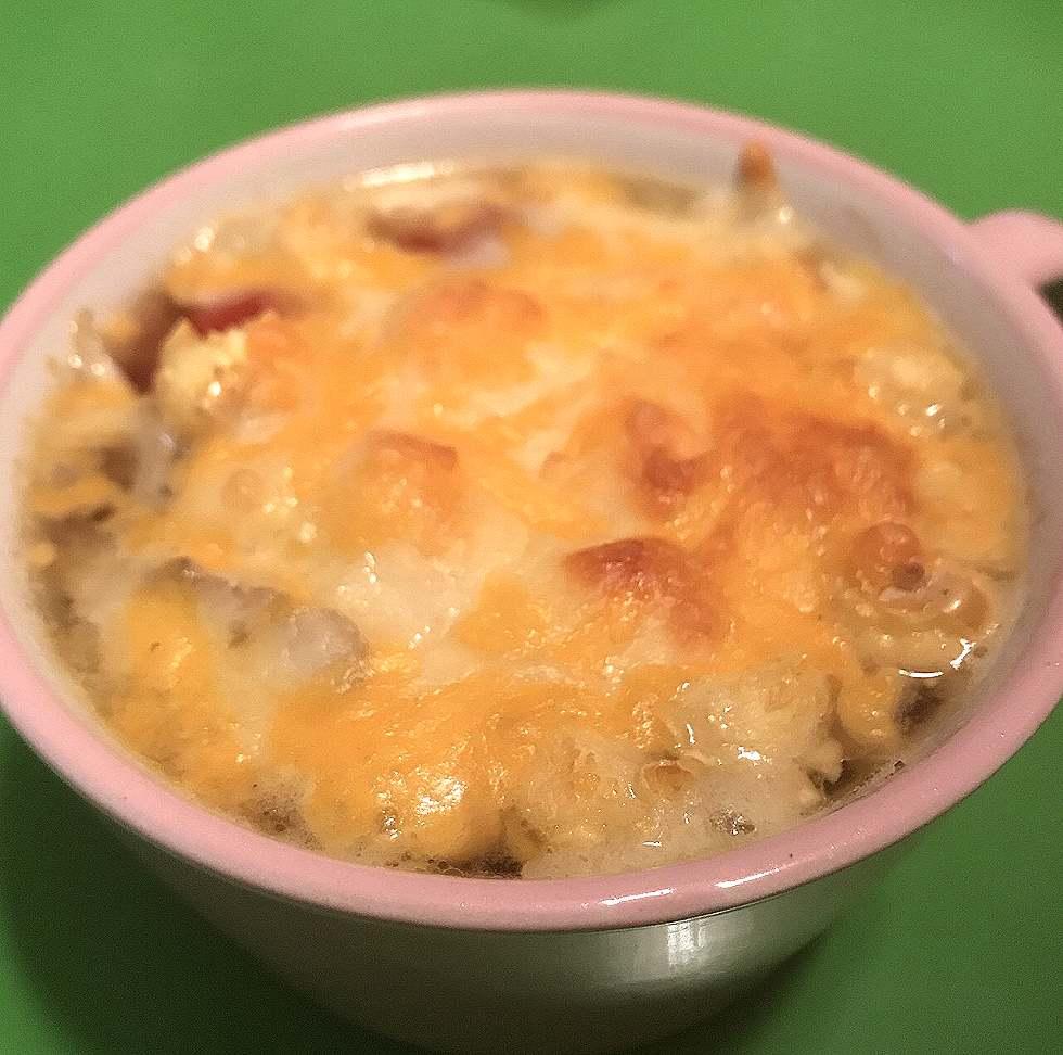 ポップコーンオニオングラタンスープ